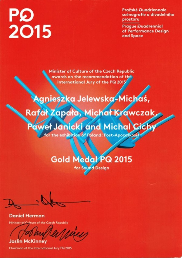 Złoty medal dla Post-Apocalypsis naPQ2015